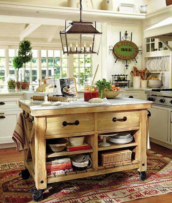 Isla de cocina tips ideas recetas for Muebles de cocina islas con ruedas